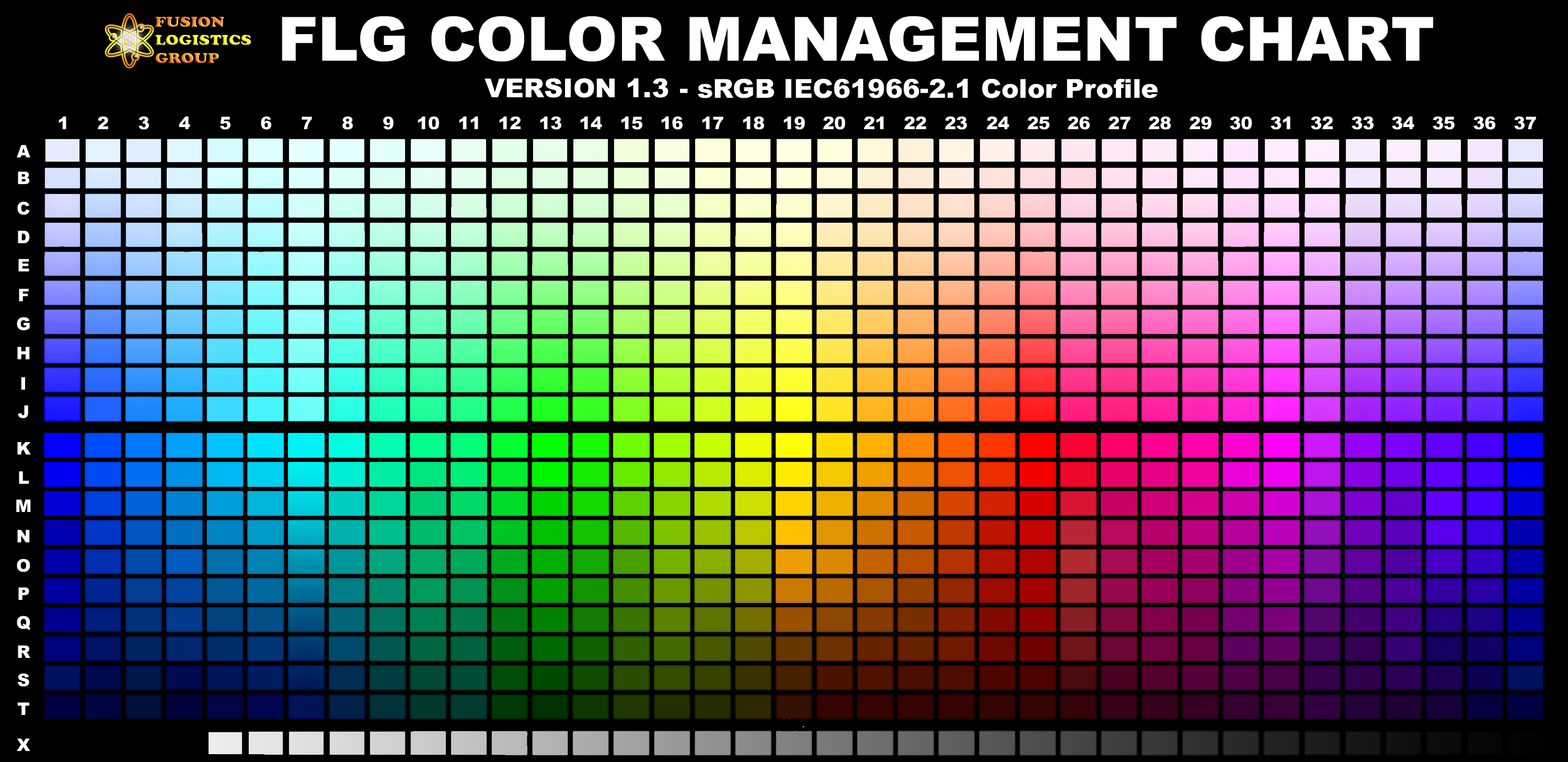 FLG Color Management Chart RGB (sRGB IEC61966 21